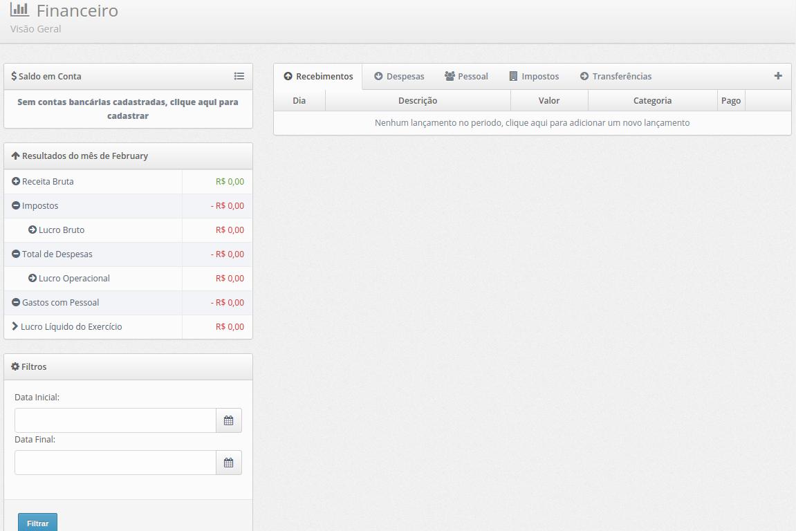 Screenshot Relatórios
